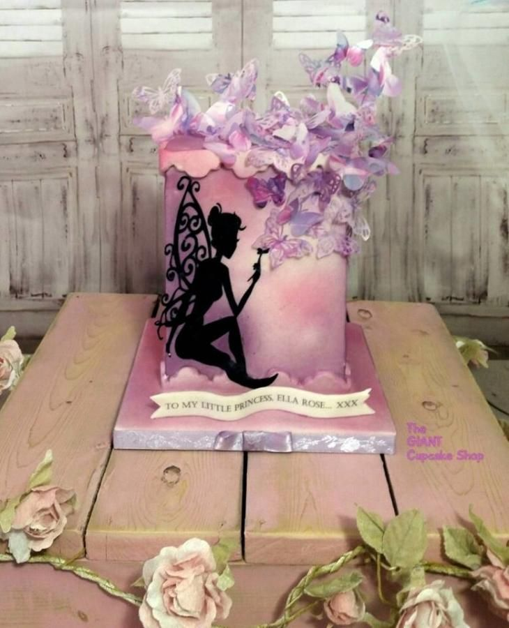 Butterfly+fairy+-+Cake+by+TheGiantCupcakeShop