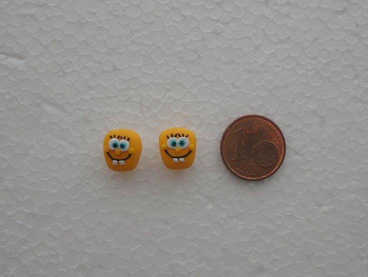 Spongebob's earrings in fimo