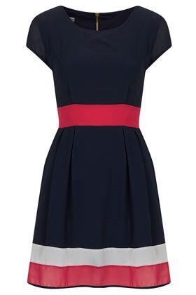 **Block Chiffon Dress by Wal G
