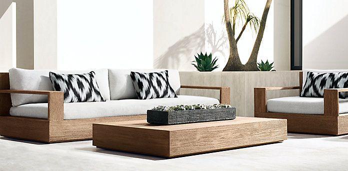 RH's Marbella Teak Collection- Natural Teak (Outdoor Furniture CG)