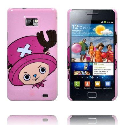 Cute Cartoon (Pinkki Hattu) Samsung Galaxy S2 Suojakuori
