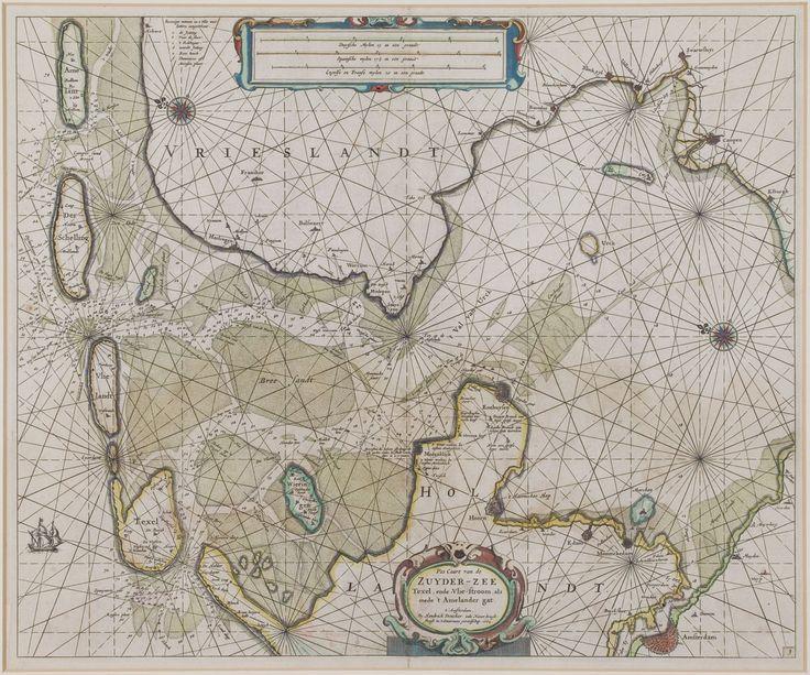 Hendrick Doncker, Amsterdam - Zeekaart van de Zuiderzee (1664).