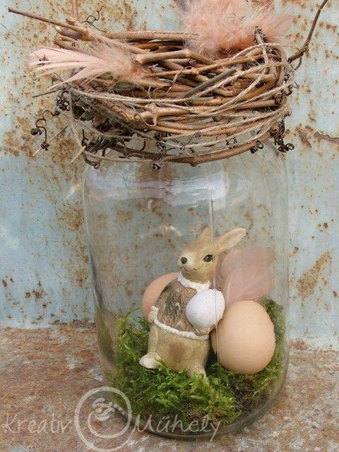 Egyszerűen elkészíthető húsvéti otthondekoráció