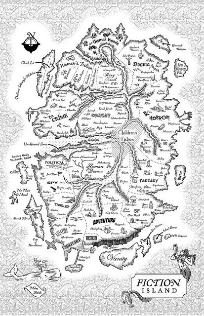 Bookworld Fiction Island Map
