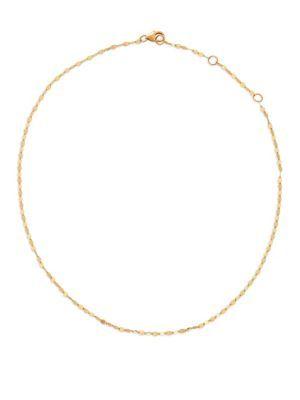Lana Jewelry 14k Alias Double Tri-Curve Choker Necklace fVRJpcz