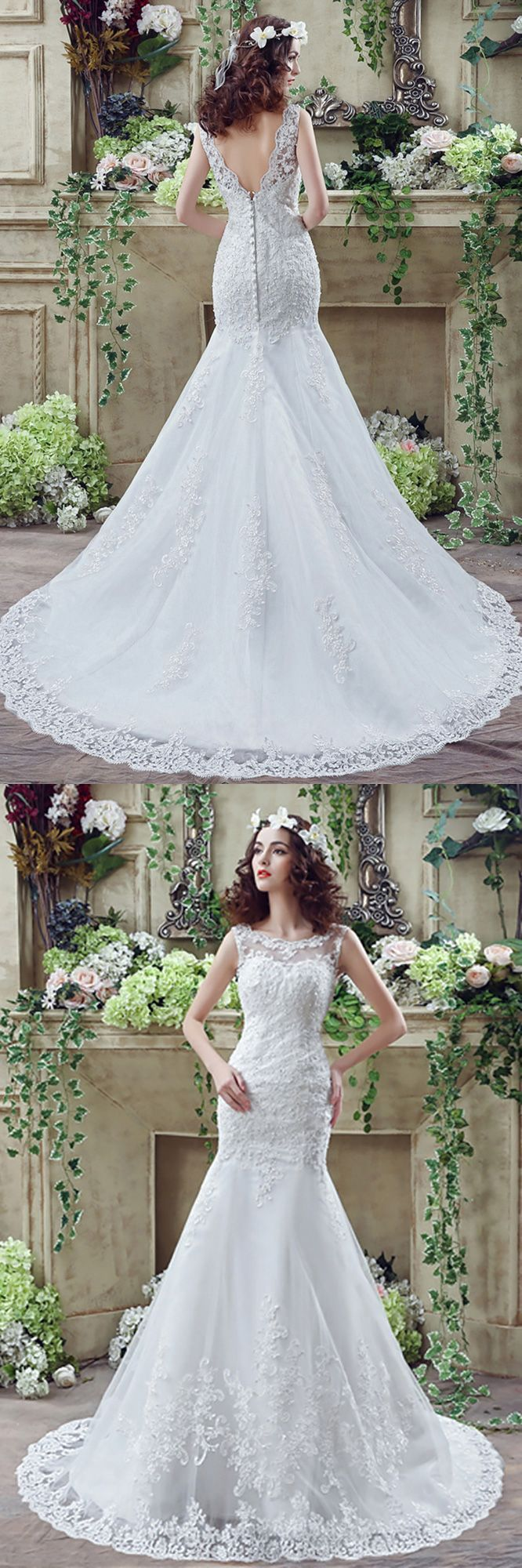 Only $128.99, Lace Wedding Dresses Fit And Flare Curvy Lace Wedding Dress Summer With Low Buttons Back #H76016 at #GemGrace. View more special Wedding Dresses,Mermaid Wedding Dresses,Lace Wedding Dresses,Country Wedding Dresses now? GemGrace is a solution for those who want to buy delicate gowns with affordable prices, a solution for those who have unique ideas about their gowns. Shop now to get $10 off!