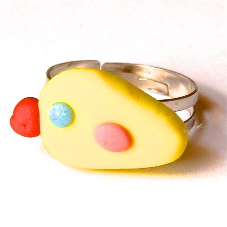Duck Ring: handmade from polymer clay. Available to purchase from Breeze Creations on Madeit