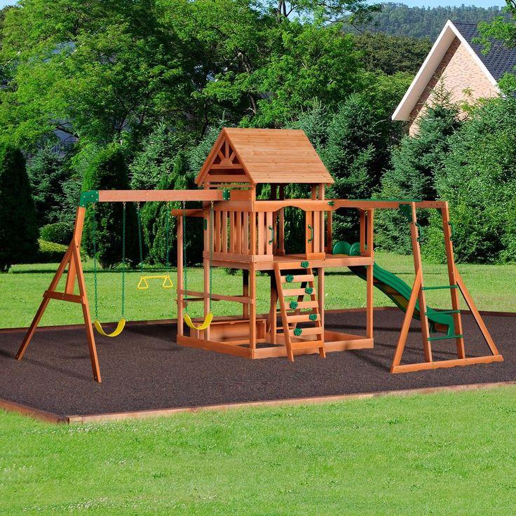 Monticello Wooden Swing Set Children Make Backyard For Kids Backyard Play Cozy