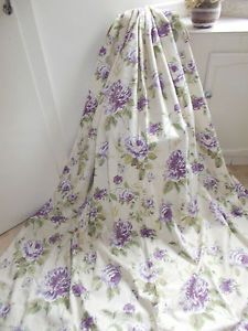 BEAUTIFUL-SHABBY-CHIC-CURTAINS-VINTAGE-Cabbage-Roses-In-Purples-Pencil-Pleat