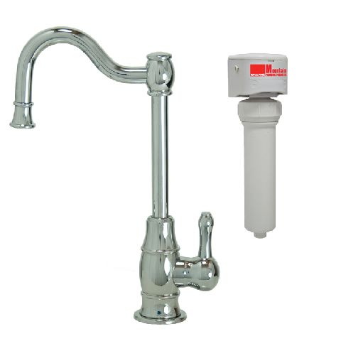 Francis Anthony Collection - Traditional Mini Point-of-Use Drinking Faucet & Mountain Pure® Water Filtration System (w/ Double Curved Spout)
