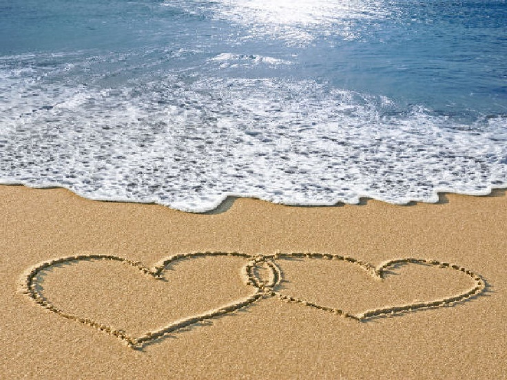 Hearts in Sand | Beach | Pinterest