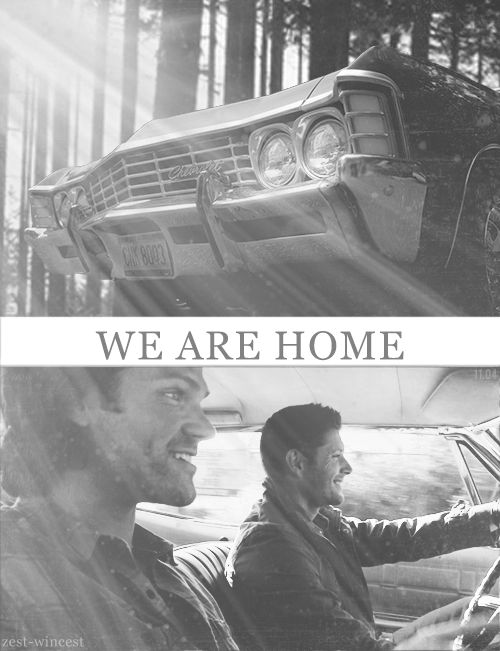 The boys have unfortunately talked about seeing an End to Supernatural. My vision for the perfect ending is they die and Cas walks them into a big house and they Genevieve and Danneel setting the dinner table and they're all confused and as their wives start talking to them JJ and Tom and Shep all run up and climb in their fathers arms and say how happy they are their daddies are home. At that moment they realize that although they're dead and in heaven they're together and home.