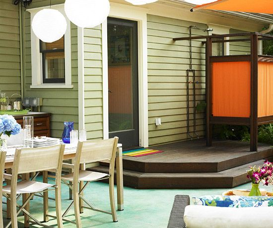 Backyard Oasis Shower...:)