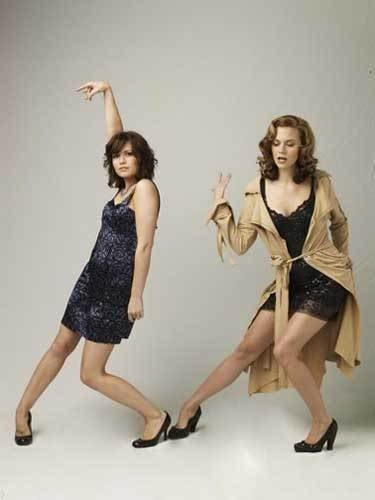 Bethany Joy Lenz as Haley James Scott and Hilarie Burton as Peyton Saywer.