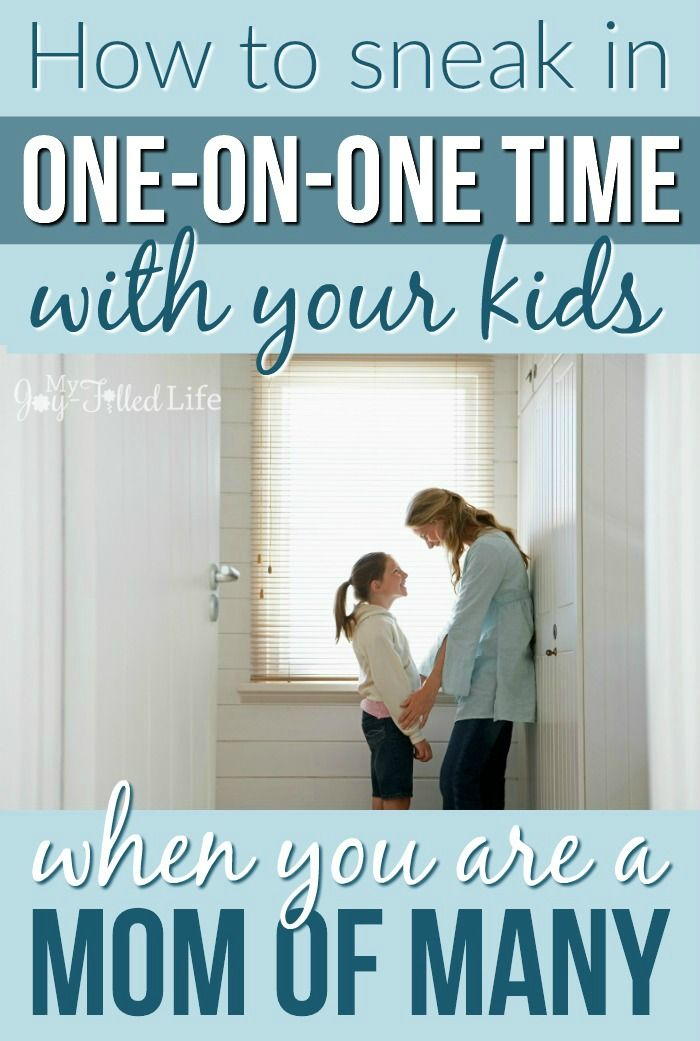 How to sneak in one-on-one time with your kids when you are a mom of many