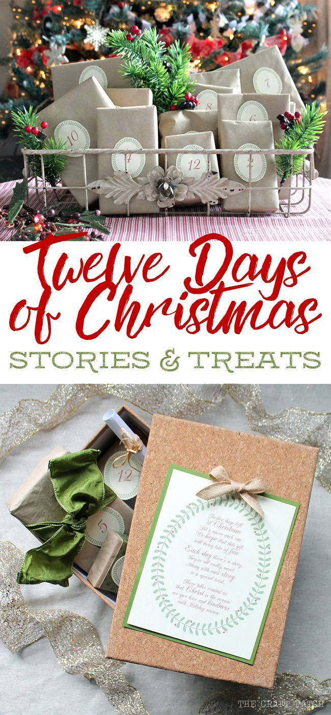 This is the cutest idea for the Twelve Days of Christmas. Every day there's a heartwarming story and a coordinating treat. Such a great way to remember the true meaning of Christmas and would be a really fun neighbor gift or Secret Santa gift.
