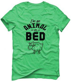 I'M AN ANIMAL IN BED - SHEEP Koszulka Tshirt Bluza Męska Damska