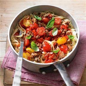 Pork, chilli and tomato tagliatelle Recipe | delicious. Magazine free recipes