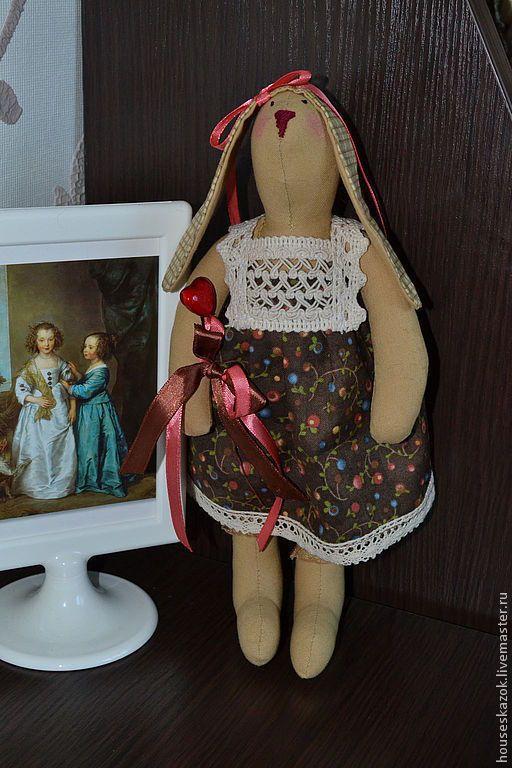 Купить Зайка-тильда Долли - кукла ручной работы, кукла текстильная, кукла в подарок