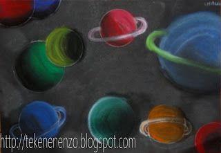 Planeten - dieptezicht en schaduwen