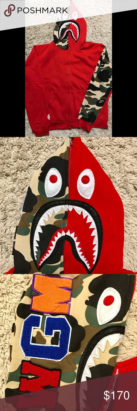 Bape Red Camo Jacket This is for all t Bape Sweaters Zip Up