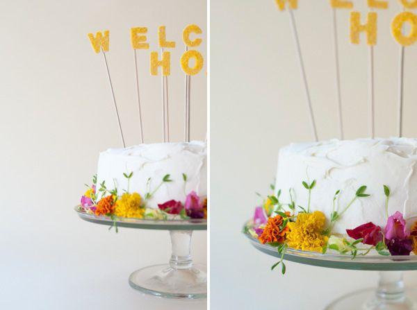 cubierta muy simple... la que mejor me salga... pero con flores comestibles. simple y precioso