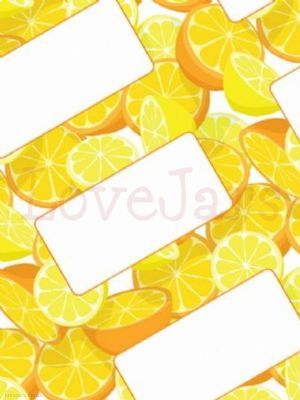 18 Oranges & Lemons Jar Labels in a pack - use layered onto the jar wrap, attached to a kraft luggage label, or kust on their own straight onto the jar.