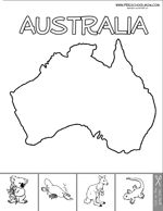 Continent: Australia - Printables, coloring pages, file folder games