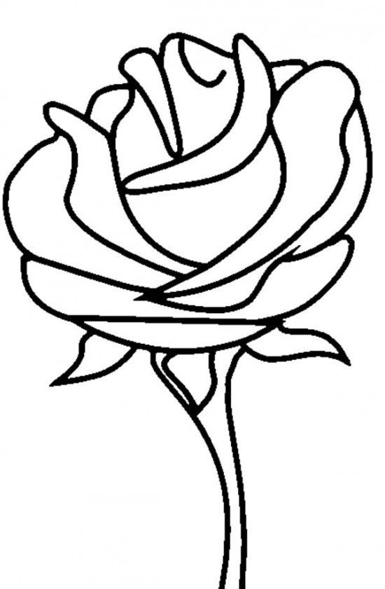 Free Printable Roses Coloring Pages For Kids | Rose ...