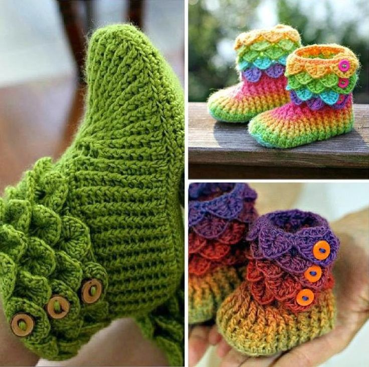 DIY Lovely Crocodile Stitch Crochet Booties | iCreativeIdeas.com Follow Us on Facebook --> https://www.facebook.com/iCreativeIdeas