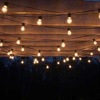 Elegant Drape Patio Lights From Pergolas #Summer #DIY