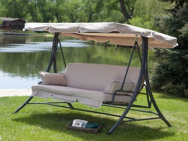 17 best ideas about patio swing with canopy on pinterest for Trampoline porch swing