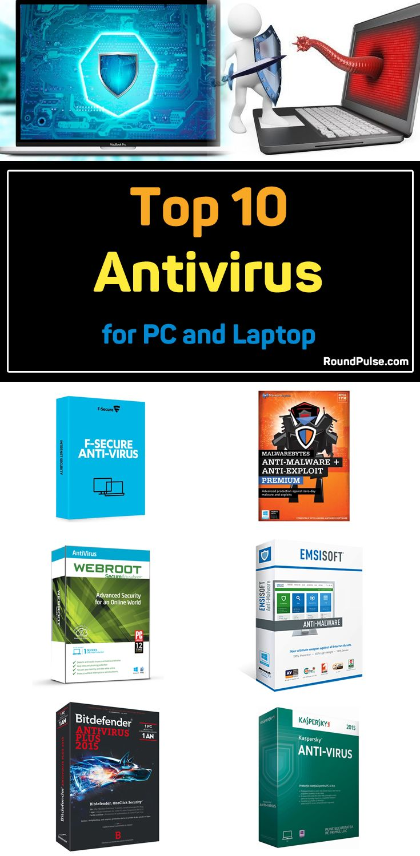 Top 10 Antivirus for PC and Laptop  #antivirus #pc #laptop #software