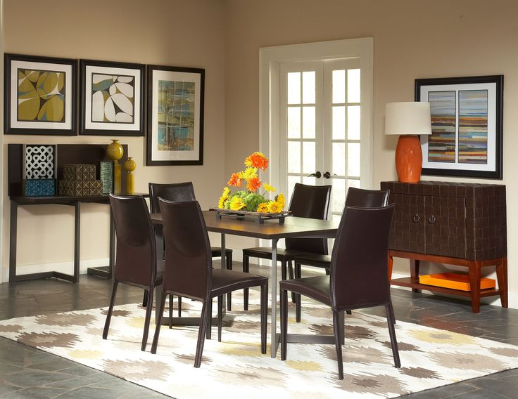 The Streamlined Style Of The Conal Dining Table And The Sophisticated Look  Of Our Glide Chairs
