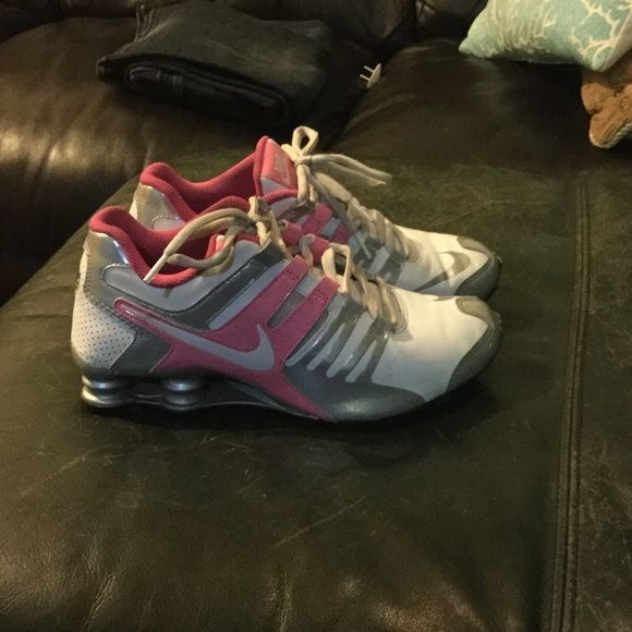 Women's Nike shocks Pink / silver / white nike shocks sz 8 --- used only a handful of times. ECU Nike Shoes Athletic Shoes