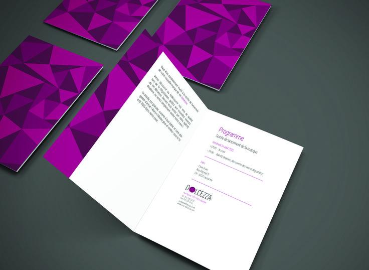 Dolcezza | Wine brand | Launch day invitation card