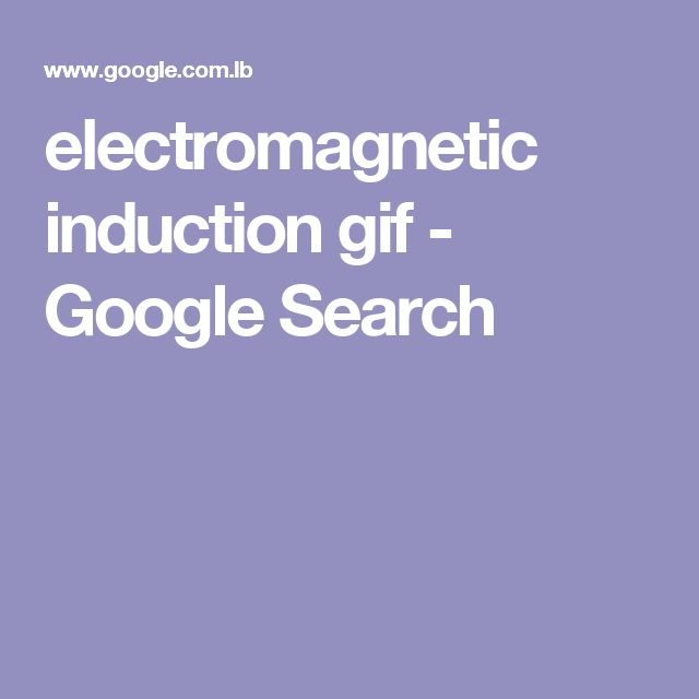 electromagnetic induction gif - Google Search