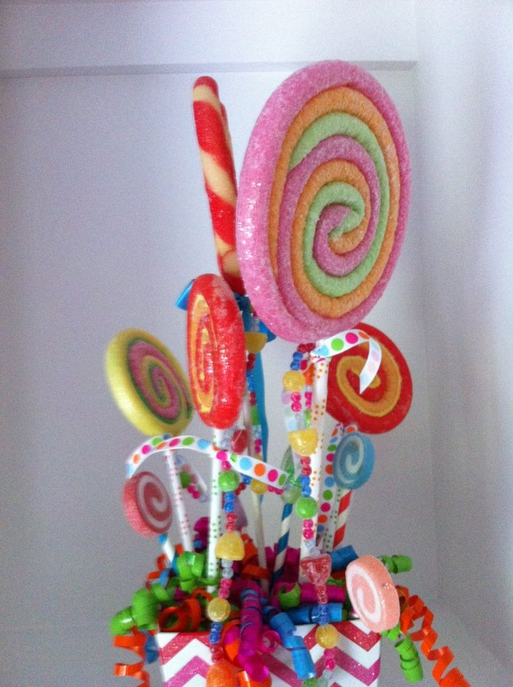 Lollipop Centerpieces | Children's lollipop centerpiece or bouquet for ... | Sweet 16 Party I ...