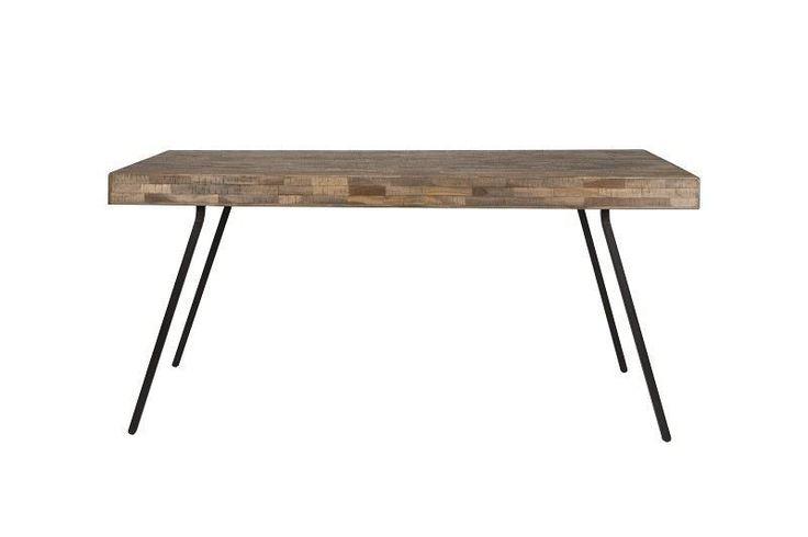homii Spisebord - Spisebord i naturtræ. Bordet er fremstillet i genbrugstræ og giver din stue et trendy og unikt vintage look.