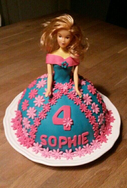Taart fondant prinses barbie