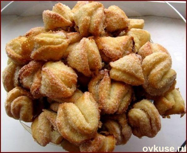 """Творожные печенья """"поцелуйчики"""""""