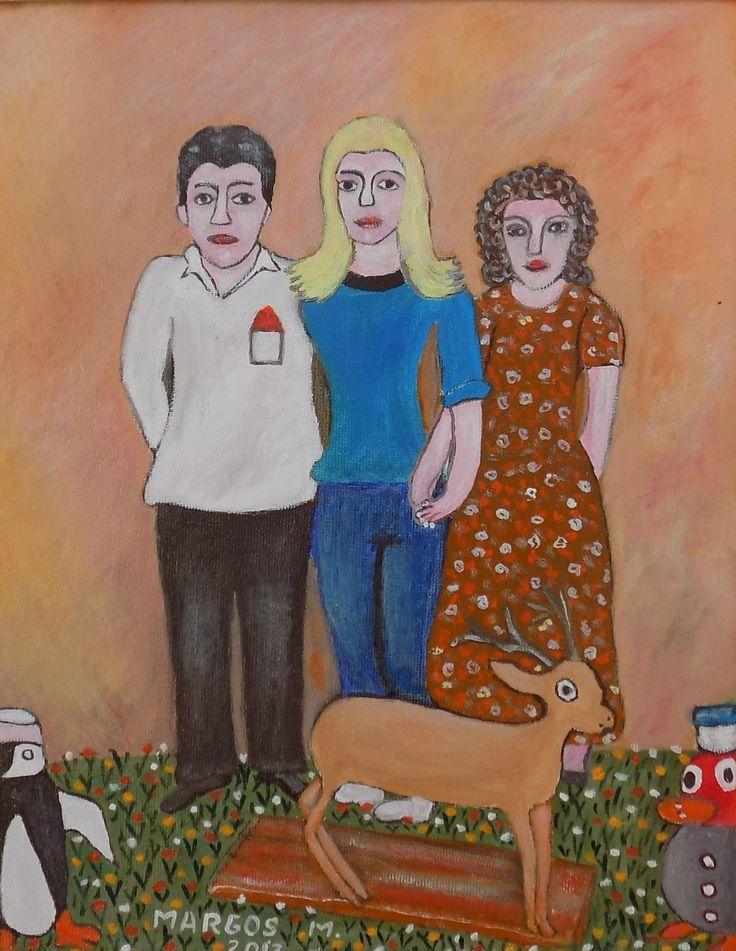 Pictura naiva | Cu familia la fotograf | Boutiq Art