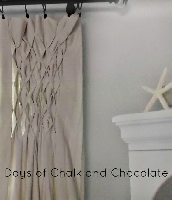 Smocked Drop Cloth Curtains Tutorial CurtainsDining Room