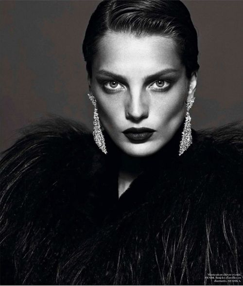 Daria Werbowy | Mert & Marcus | Vogue Paris September 2012 | 'Le Noir'