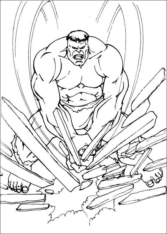 Hulk Coloring Pages Superheroes Printable 27509