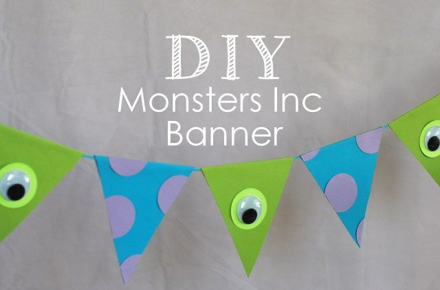 DIY monsters inc banner for party, tremendous straightforward and cheap + free te.... >>> See more at the picture link