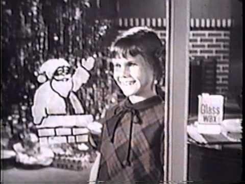Vintage Christmas Television ~ Winter Wonderland Window Christmas Stencils Commercial. circa 1960's