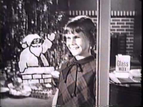 Vintage Christmas Television ~ Winter Wonderland Window Christmas Stencils Commercial. circa 1960's
