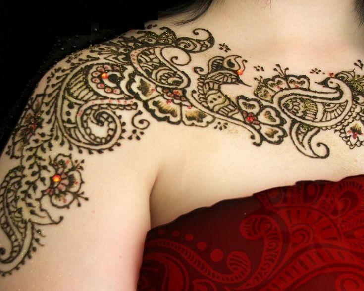 Mehndi Nape Tattoo : Best natural tattoo design images nature tattoos