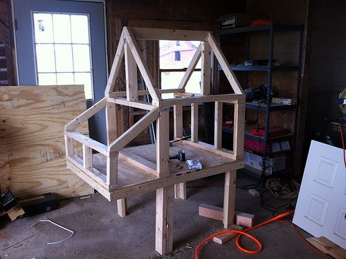 how to frame a coop